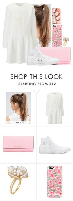 """Love me so much🌸💗"" by hannahmcpherson12 ❤ liked on Polyvore featuring NIKE, Uniqlo, MICHAEL Michael Kors, Converse, Ross-Simons and Casetify"
