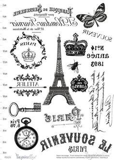 Glass Transfer, Foto Transfer, Paris Crafts, Printable Art, Printables, Illustrations Vintage, Bible Doodling, Images Vintage, Decoupage Vintage