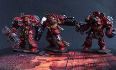 Space Hulk Terminators Commission Complete - http://www.the-vanus-temple.com/space-hulk-terminators-commission-complete/