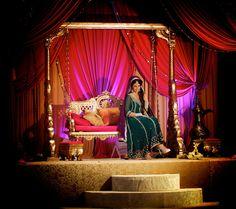 Mehndi Stage, Mehndi Night, Mehendi, Asian Inspired Wedding, South Asian Wedding, Desi Wedding, Wedding Stage, Indian Wedding Decorations, Wedding Themes