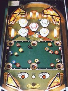 Playfield of Solid's and Stripes.  Williams 1972