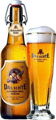 Cerveja Das Echte , estilo Maibock/Helles Bock, produzida por Dinkelacker-Schwaben Bräu, Alemanha. 5.7% ABV de álcool.
