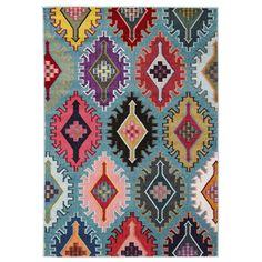 Tabriz Blue Modern Tribal Rug