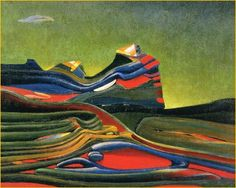 Max Ernst (French, born Germany, 1891-1976), Terre écossaise {Scottish Land], 1935. Oil on canvas, 65 x 81 cm.