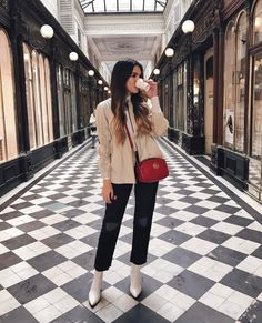 Paris Fashion Week: Day 1 and 2 Gucci Disco Trending Gucci Disco for sales. - Gucci Disco - Trending Gucci Disco for sales. - Paris Fashion Week: Day 1 and 2 Gucci Disco Trending Gucci Disco for sales. Paris Fashion Week: Day 1 and 2 Red Purse Outfit, Beige Outfit, Booties Outfit, Mode Outfits, Casual Outfits, Gucci Disco, Gucci Crossbody Bag, Jeans Slim, Winter Fashion Outfits