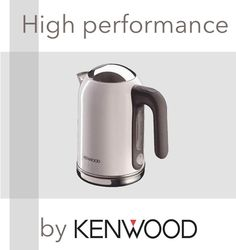 KETTLE W by #Kenwwood: a piece of #art in the #kitchen. Attention to every #detail is the signature of the range. The base is accented in the distinctive polished stainless steel and a convenient flip lid makes the kettle #easytofill. http://bit.ly/1yWCGHM #design #designer #home #style