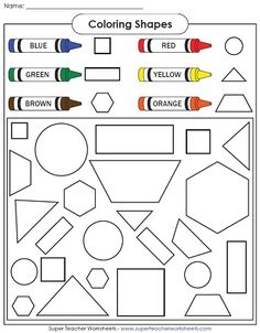 ... students about basic shapes with these basic shape printables! More