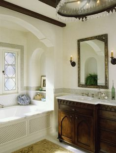 Mediterranean Classic - mediterranean - bathroom - los angeles - Tommy Chambers Interiors, Inc.