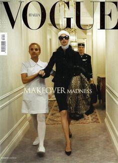 Old Vogue cover, Steven Meisel / Capa retrô da Vogue.