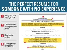 Resume With No Work Experience Example College Sendletters Info Little Experience  Resume How To Write How
