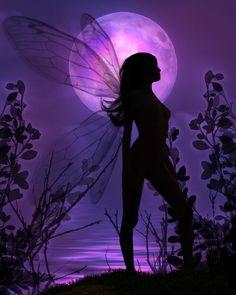 Silouette Fantasy - background - Love the purple!
