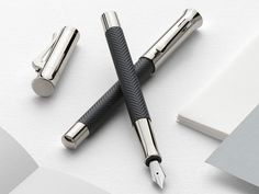 The Guilloche Ciselé in elegant herringbone look is our latest novelty from the Graf von Faber-Castell Collection.  The deep, matt surfaces combined with the shimmering engraving create a unique and very appealing look.