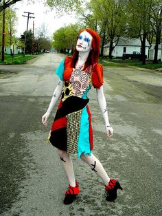 Sally The Nightmare Before Christmas Cosplay Costume from snlmoehunt on Etsy. Saved to Halloween. Sally Halloween Costume, Halloween Cosplay, Halloween 2015, Halloween Ideas, Sally Nightmare Before Christmas, Sally Makeup, Cosplay Outfits, Cosplay Ideas, Costume Ideas