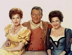 """McClintock! is a 1963 comedy Western directed by Andrew V. McLaglen and starring John Wayne, with co-stars including Maureen O'Hara, Yvonne De Carlo, and Wayne's son Patrick Wayne. The film, produced by Wayne's company Batjac Productions, was loosely based on Shakespeare's The Taming of the Shrew.""""McLintock!"""" - Maureen O'Hara, John Wayne, Yvonne deCarlo"""