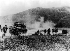 M3 Grant supporting Gurkha infantry advancing on the Imphal-Kohima Road, Mid-1944