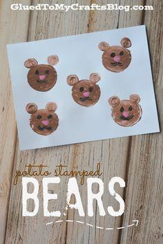 Potato Stamped Bears {Kid Craft}