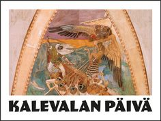 Kalevalan päivä on 28.2. Päivää voi viettää tutustumalla taiteeseen ja runoihin vaikka pelaamalla taidekuva- ja sanapelejä. Finland, Mythology, Language, Teaching, Painting, School, Historia, Painting Art, Languages