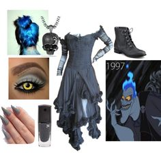 """""""Name's Hades, Lord of the dead. Hi, how ya doin'? Disney Character Outfits, Cute Disney Outfits, Disney Themed Outfits, Movie Inspired Outfits, Disney Inspired Fashion, Disney Bound Outfits, Cute Outfits, Disney Clothes, Emo Outfits"""