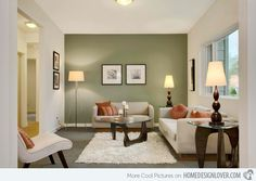 15 Contemporary Grey and Green Living Room Designs | Home Design Lover