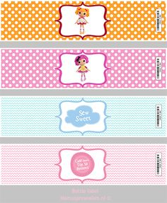 Lalaloopsy water bottle wraps (free printable)