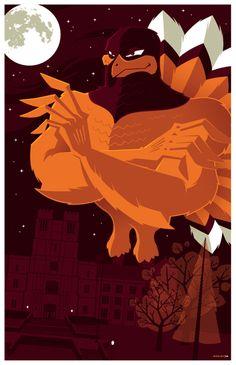 Really cool HokieBird image.     Virginia Tech    http://strongstuff.deviantart.com/art/hokiebird-commission-100193711