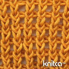Wrong side of knitting stitch pattern – Ribbing 6 : www.knitca.com