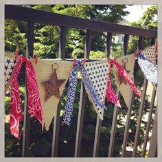 Burlap and bandana banner - Craft Warehouse Blog