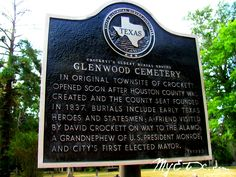 Glenwood Cemetery is the oldest burial ground in Crockett, Texas.