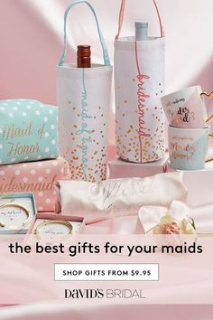 Searching for the best bridesmaid gift ideas? Shop at David's Bridal to find affordable & unique bridesmaid gifts that your bridal party will love today! Wedding Gift Registry, Wedding Shower Favors, Gifts For Wedding Party, Party Gifts, Our Wedding, Bridal Shower, Dream Wedding, Wedding Ideas, Bridesmaid Gifts Unique
