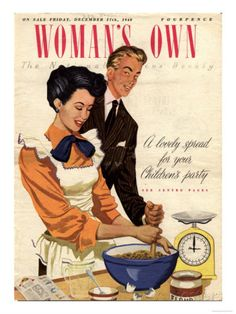 Woman's Own, Cooking Baking Magazine, UK, 1948 Giclée-Druck bei AllPosters.de