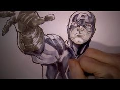 ▶ Coloring Captain America (with Todd Nauck): Using Copic Markers - YouTube