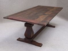 Reclaimed ship timber dining table