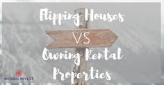 Flipping houses and owning buy and hold rental properties are two of the  most popular real estate strategies. These two strategies work very  differently, and generally I recommend that you choose one path. But which  one is right for you?  It depends what your goals are, and what you envision