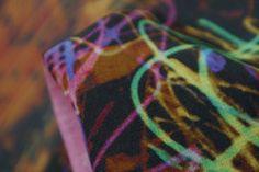 Neon Squiggle - Crepe de Chine - Crepe De Chine Silk - Tessuti Fabrics - Online Fabric Store - Cotton, Linen, Silk, Bridal & more