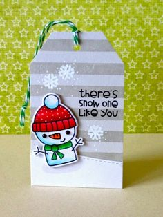 Donna Mikasa - three umbrellas: 25 Days of Christmas Tags - such pretty coloring.  Like how she took the time to stamp the striped background.  Adds so much to the tag.