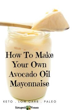 Try this healthy, delicious and easy keto avocado oil mayo recipe today. It can be used if you are on an egg fast as well. Your whole family will want avocado oil mayonnaise on just about everything they eat after you make this just once! Avocado Oil Mayonnaise Recipe, Keto Avocado, Homemade Mayonnaise, Avocado Oil Dressing Recipe, Avocado Art, Salad Dressing, Clean Eating Snacks, Egg And Grapefruit Diet, Keto Egg Fast