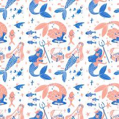 Ocean treasures by giovana medeiros, via Behance
