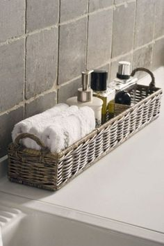 Installation examples Wicker rattan baskets storage baskets baskets for shelves bathroom