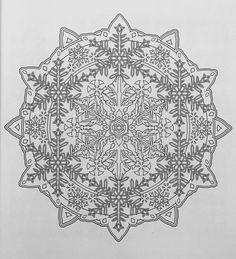 Mandala Coloring Pages, Colouring Pages, Adult Coloring Pages, Coloring Sheets, Mandala Stencils, Mandala Art, Christmas Colors, Christmas Themes, Christmas Mandala