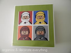 Keep a handle on all those LEGO instructions with a binder & this cute cover! Via Organize & Decorate Everything