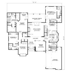 Traditional Style House Plan - 4 Beds 3.5 Baths 3568 Sq/Ft Plan #17-2062 Floor Plan - Main Floor Plan - Houseplans.com