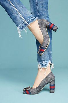 f42111c83db Lenora Betta Striped Heels J Shoes
