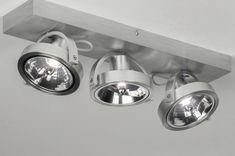 Spot 73574: Modern, Aluminium, Geschuurd Aluminium, Aluminium Ceiling Spotlights, Ceiling Lights, Led Dimmer, Aluminium, Track Lighting, Light Bulb, Modern, Ceiling, Light Fixtures