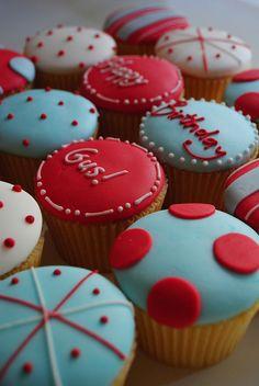 Birthday cupcakes by Bath Baby Cakes, via Flickr
