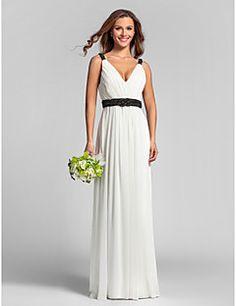 6bb31cd2627c0 RACHEL - Bridesmaid Cheap Sheath/Column Floor length Georgette V-neck  Wedding party dresses