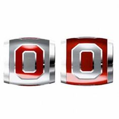 """Teagan Collegiate Collection Bead: Ohio State University Combo set. This bundle contains two Ohio State University Beads:     OSU1 Red O on Gray Bead     OSU2 Gray O on Red Bead  Beads are 925 Silver and Enamel. These are """"Teagan"""" beads and it is compatible with Pandora, Biagi, Zable, Brighton, Troll and many other European style bracelets."""