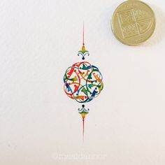 Love everything about it! ☺️ That's 1cm diameter. #islamicart #watercolour #rumi…