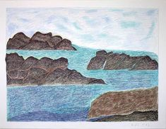 This looks like an ideal place to sit and enjoy the quiet. (Available Drawing I Inuit Art, Seas, Arctic, Portal, Moose Art, Display, Fine Art, Landscape, World