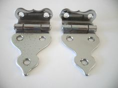 Vintage Ornamental CHROME HOOSIER Cabinet Door Hinges 3/8  Offset Art Deco (Close & Acclaimed leader! Boone Kitchen Cabinets ad 1923 Mary u0026 Helen ... pezcame.com