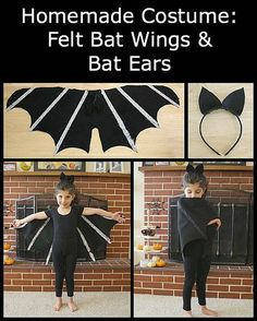 DIY Bat Costume for Kids (Tutorial for Felt Bat Wings and Bat Ears) ~ BuggyandBuddy.com